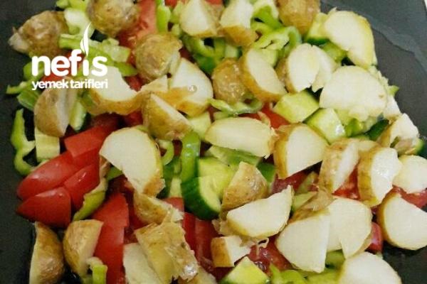 Taze Patates Kızartması Salatası