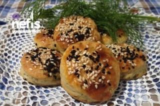 Dereotlu Peynirli Mini Çörekler