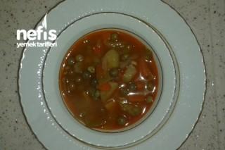 Bezelye Çorbası (Sebzeli) Tarifi
