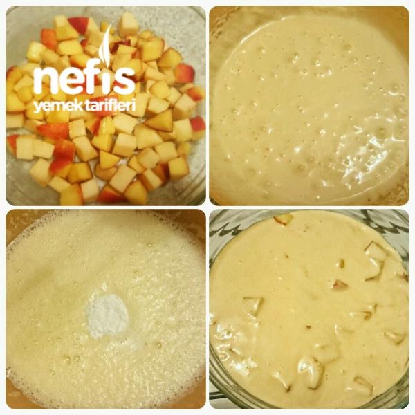 Elmalı Nektarinli Şarlot Kek