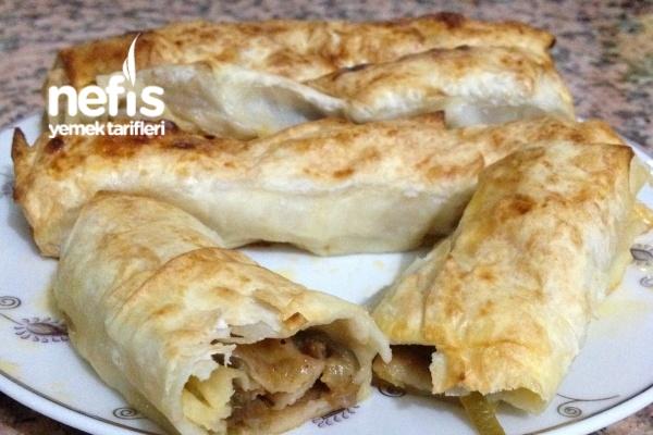 Hazır Yufka İle Yapılmış Patlıcanlı Börek (videolu) Tarifi