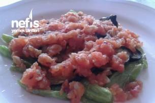 Domates Soslu Biber Patlıcan Kızartması Tarifi