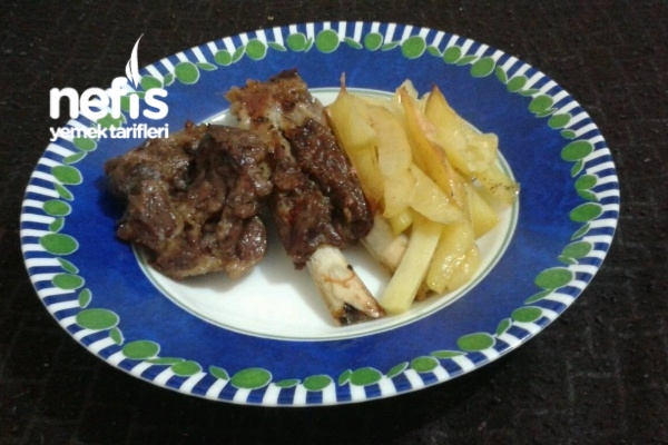 Fırında Patatesli Kırmızı Et Tarifi
