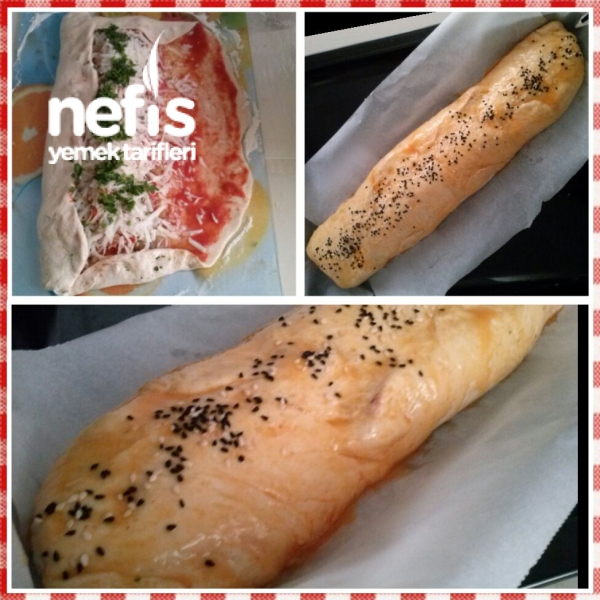 Stromboli/ İtalyan Kahvalti Ekmeği/ Rulo Pizza