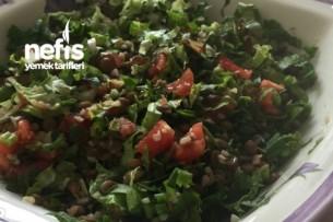 Metabolizma Hızlandırıcı Yeşil Mercimek Salatası Tarifi