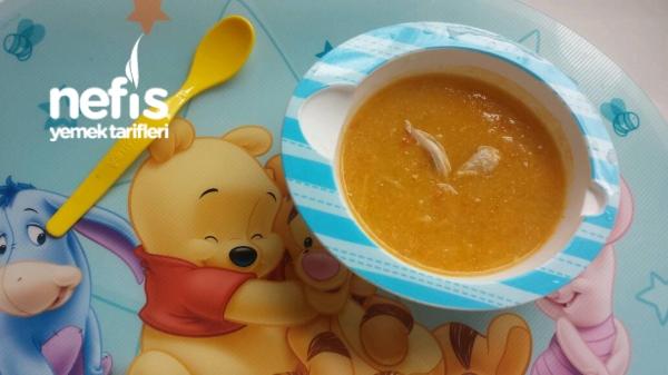 Tavuklu Bebek Sebze Çorbası + 8 Ay