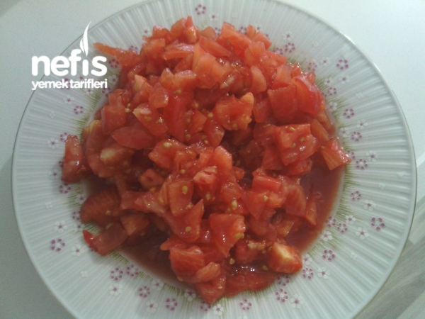 Közlenmiş Patlıcan Soslu Kavurma Makarna