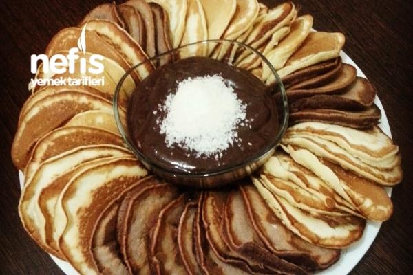 Puf Pancake Ve Kakaolu Süt Reçeli Tarifi