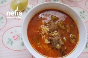 Etli Arpa Şehriye Çorbası Tarifi
