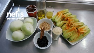 Zeytinyağlı Kabak Çiçeği Dolması (Thai Curry Soslu)