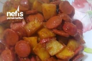 Sahura Sosisli Patates Tava Tarifi