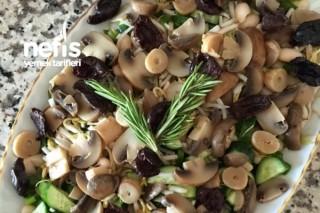 Mantarlı Fasulye Salatası Tarifi
