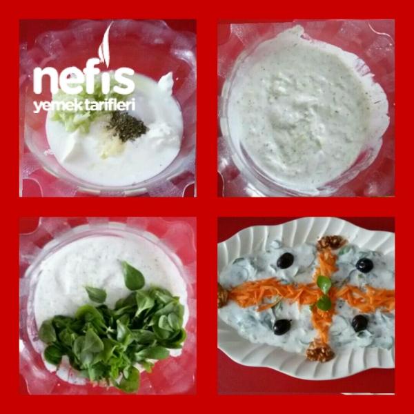 Yoğurtlu Cevizli Semizotu Salatası