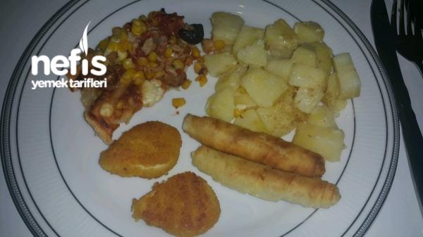 Firinda Kaşarli Patates