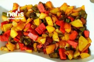 Salamlı Patatesli Kahvaltılık Tarifi