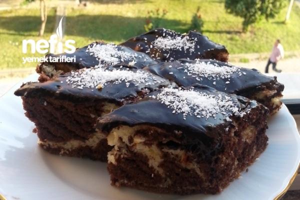Çikolata Soslu Zebra Kek Tarifi