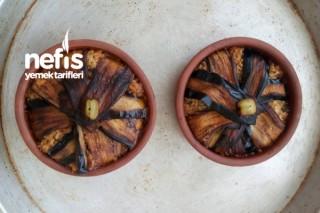 Güveçte Patlıcanlı Pilav Kapama Tarifi