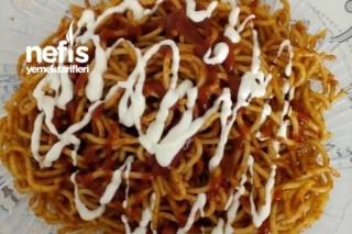 Ketçap Ve Mayonezli Spagettii Tarifi