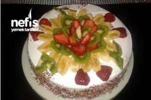Meyveli Ve Çikolatalı Pasta Resimli Tarifi