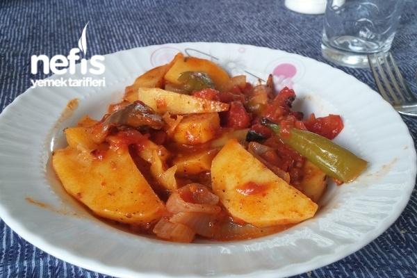 Fırında Sebzeli Patates Tarifi