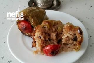Fırında Zeytinyağlı Biber Dolması Tarifi