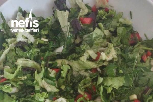 Bol Yeşillikli Vitamin Salatası Tarifi