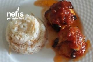 Köfteli Patlıcan Kebabı Yapımı Tarifi
