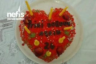 Kırmızı Kadife Pasta (Doğumgünü Pastası) Tarifi