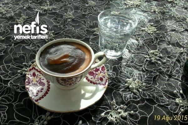 Fincanda Pişen Türk Kahvesi  Bol Köpük Ve Lezzet Garantili Tarifi