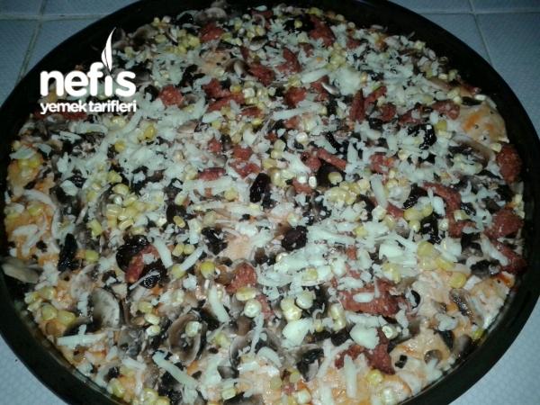 Evde Pizzaaa Yapımı