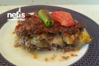 Diyet Patlıcanlı Tepsi Kebabı Tarifi