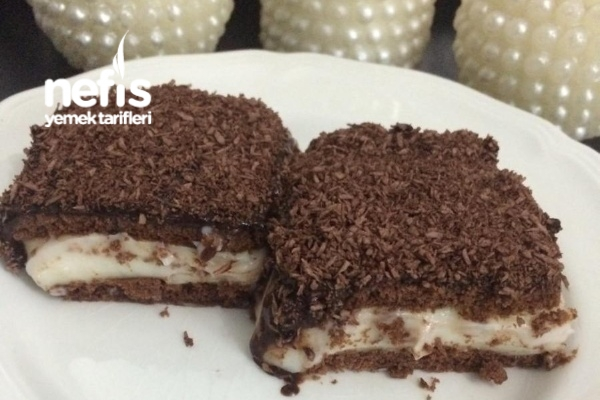 Çikolata Soslu Bisküvili Tatlım (videolu)