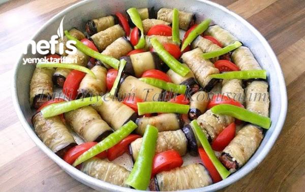 Köfteli Patlıcan Sarması