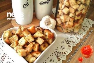 Baharatlı Ekmek Kruton (Kıtır Ekmek) Tarifi