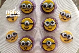 Minion Muffin Süslemeleri (Şeker Hamuru) Tarifi