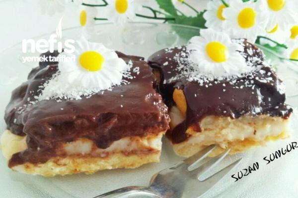 Pudingli Kedidili Bisküvili Pasta Tarifi