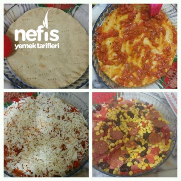 2 Kişilik Tam Tarifinde Pizza Nefis Yemek Tarifleri