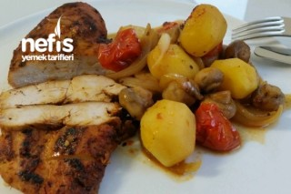 Tavuk Fileto İle Sebze Yemeği Tarifi