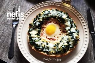 Ispanaklı Peynirli Yumurtalı Simit Tarifi