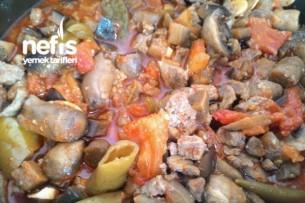 Et Patlıcan Mantar Sote Tarifi