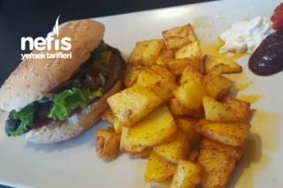 Pratik Hamburger (Cheeseburger) Ve Patates Kızartması Tarifi