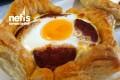 Kahvaltıya Milföy Çanağında Kaşar-sucuk-yumurta Tarifi