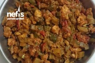 Diyet Patlıcanlı Tavuk Tarifi