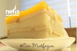 Portakallı Bisküvili Muhallebi Tarifi