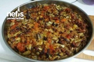 Fırında Kıymalı Patlıcan Kebap Tarifi