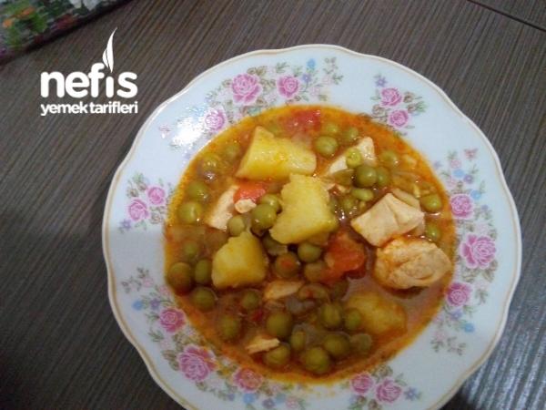 Tavuklu Bezelye Yemeği - Gökçen - Nefis Yemek Tarifleri