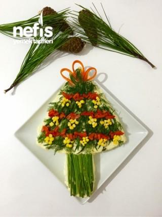 Yılbaşı Ağacı Salatası (Yılbaşı Yemek Fikirleri)