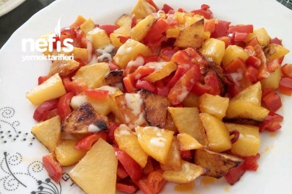 Kaşarlı Biberli Patates Tarifi