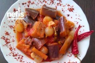 Arpacık Soğanlı Patlıcan Yemeği Tarifi