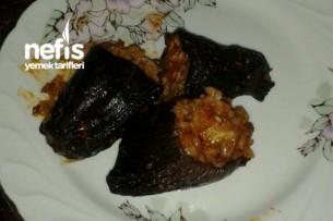 Kıymalı Kuru Patlıcan Dolması Tarifi